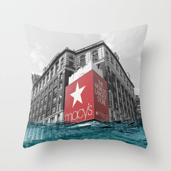 Macy's water line Throw Pillow