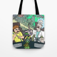 Rick and Morty by Aaron Bir Tote Bag