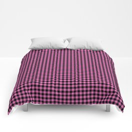 Mini Black and Pink Cowboy Buffalo Check Comforters