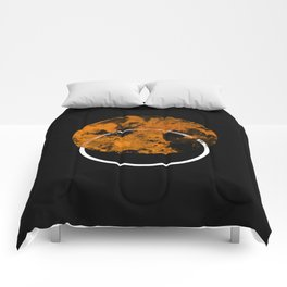 Collusion - Abstract in black, gold and white Comforters