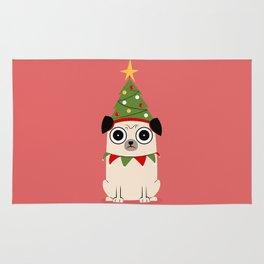 It's Christmas for Pug's Sake Rug