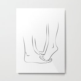orteils tippy- Couple Kissing  Metal Print