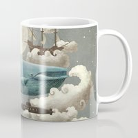 house Mugs featuring Ocean Meets Sky by Terry Fan
