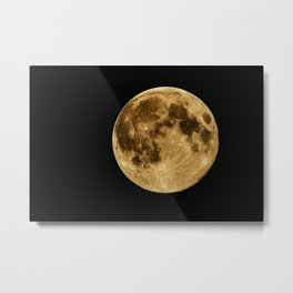 Telescopic Photograph of Earth's Moon Metal Print