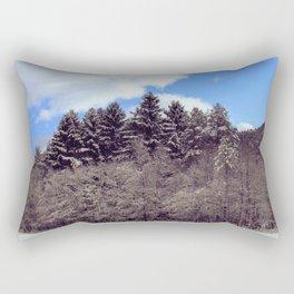 Christmas forrest Rectangular Pillow