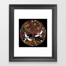 tree of life black Framed Art Print