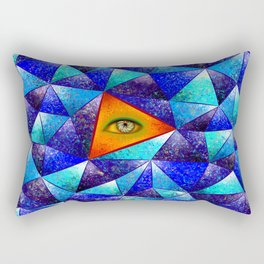 Tethrous V1 - watching triangle Rectangular Pillow