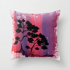 Leafy Bonzai Throw Pillow