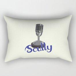Vin Scully Mic Rectangular Pillow
