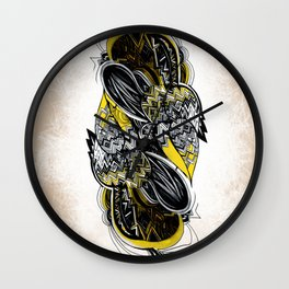 Bird sleeping Wall Clock