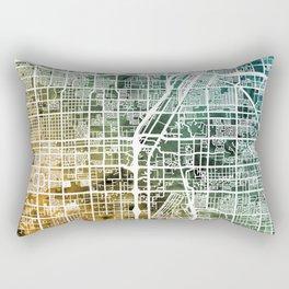 Las Vegas City Street Map Rectangular Pillow