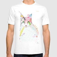 Cat / March Mens Fitted Tee LARGE White