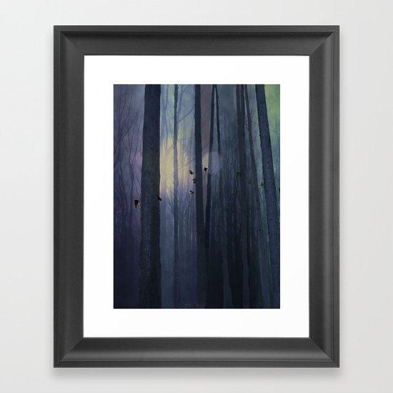 Midnight migration Framed Art Print