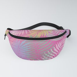 Layered Palms - Hot Pink Fanny Pack