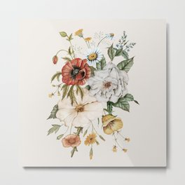Wildflower Bouquet Metal Print