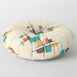 Mid Century Modern Geometric Colorful Floor Pillow