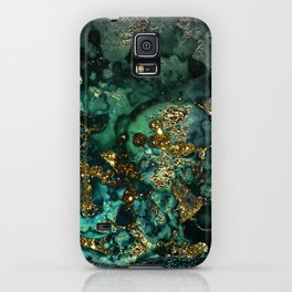 Gold Indigo Malachite Marble iPhone Case