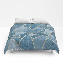 Dusk Blue Stone Comforters
