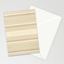 Blonde Wood Grain / Paneling (horizontal stripes) Stationery Cards