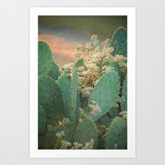 Cactus and Vine -- Scenic Botanical Art Print