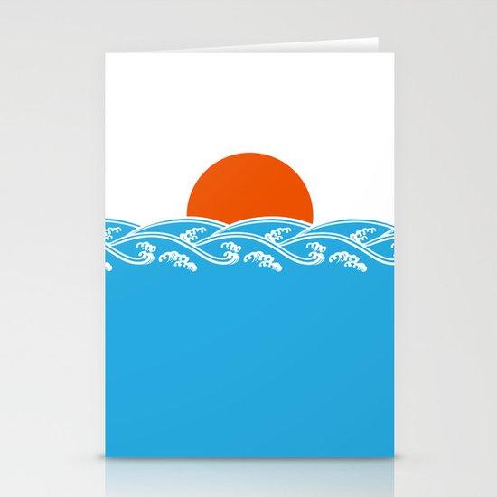 Japanese Tsunami  Stationery Cards