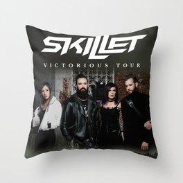 SKILLET VICTORIOUS WORLD TOUR DATES 2019 IKANLELE Throw Pillow