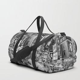 Times Square II (B&W widescreen) Duffle Bag