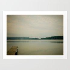 Herring Lake Dock Art Print