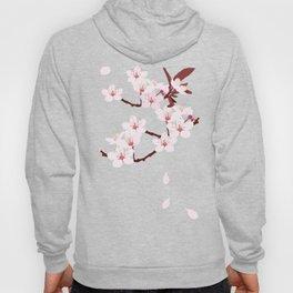 Sakura on red background Hoody