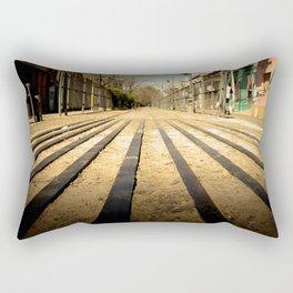 Train Line Rectangular Pillow