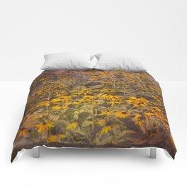 Yellow Jungle Comforters