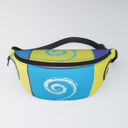 Spirals on Squares Fanny Pack