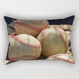 Baseballs and Glove Rectangular Pillow