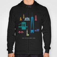 New York Skyline WTC Poster Color Hoody