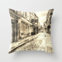 The Shambles York Vintage Throw Pillow