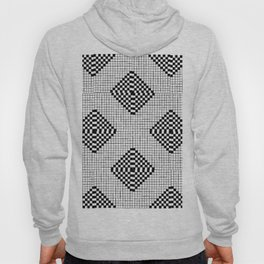 Black & White Grid Tile Pattern Hoody