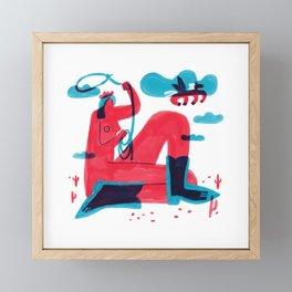 Runaway Pegasus Framed Mini Art Print