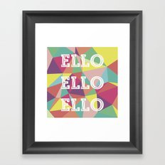 Happy Geometric Framed Art Print