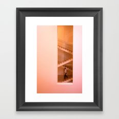 Day at the museum - stairs Framed Art Print