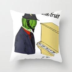 thelonious monk-fruit Throw Pillow