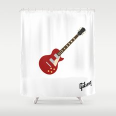 Gibson Les Paul Red Shower Curtain
