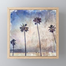 Palm Trees Watercolor Framed Mini Art Print