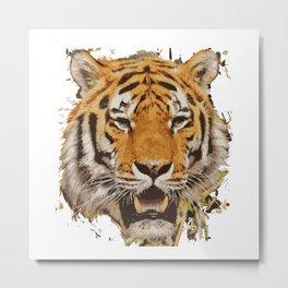 tiger face vektor Metal Print