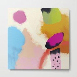 la vie en rose  art abstract minimal Metal Print
