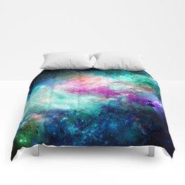 Teal Galaxy Comforters
