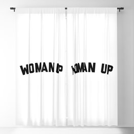 Woman Up Funny Quote Blackout Curtain