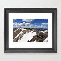 Mt Democrat Framed Art Print
