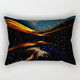 looking through drops Rectangular Pillow