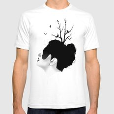 Growth SMALL Mens Fitted Tee White