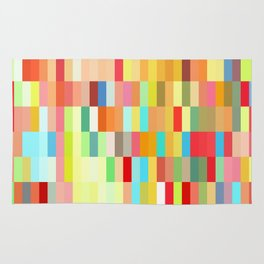 colorful rectangle grid Rug